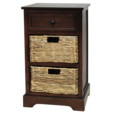 Urban Designs Malibu 3-Drawer Night Stand