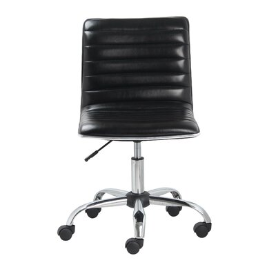 Famis Corp Mid-Back Leather Task Chair