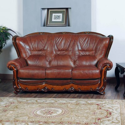 Noci Design Wood Trim Sofa