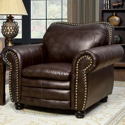 A&J Homes Studio Zuri Nailhead Leather Ar..