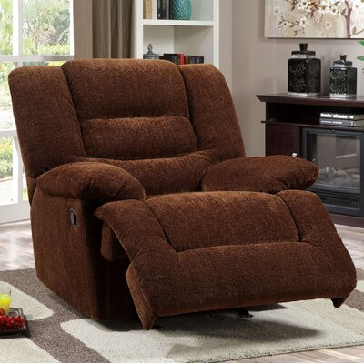 A&J Homes Studio Tufted Chenille Fabric Recliner