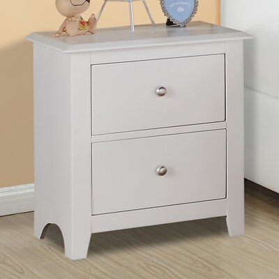 A&J Homes Studio Valhalla 2 Drawer Nightstand
