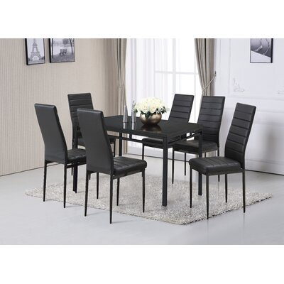 A&J Homes Studio Noir Dining Set