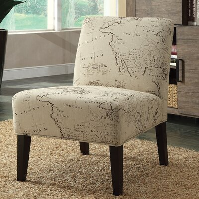 A&J Homes Studio Avalon Map Slipper Chair