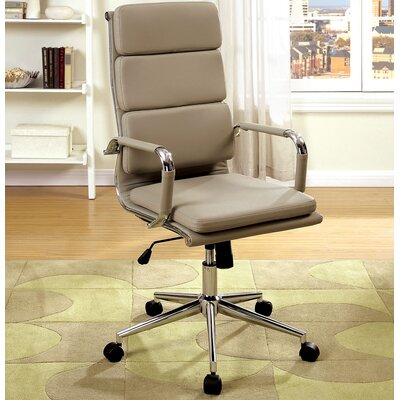 A&J Homes Studio Cancun High-Back Office Chair with Arms