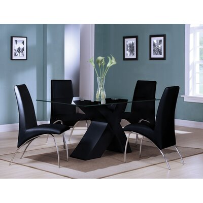 A&J Homes Studio Angelica 5 Piece Dining Set