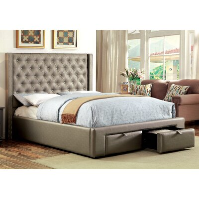 A&J Homes Studio Upholstered Platform Bed