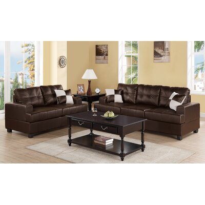 A&J Homes Studio Biola 2 Piece Sofa and Loveseat Set