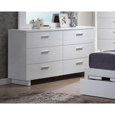 A&J Homes Studio Branchville 6 Drawer Dresser