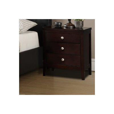 A&J Homes Studio Jakayla 3 Drawer Nightstand