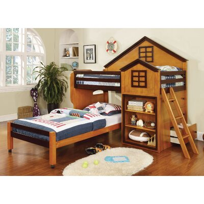 A&J Homes Studio Rachel Twin Loft Bed wit..