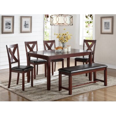 A&J Homes Studio Maria 6 Piece Dining Set