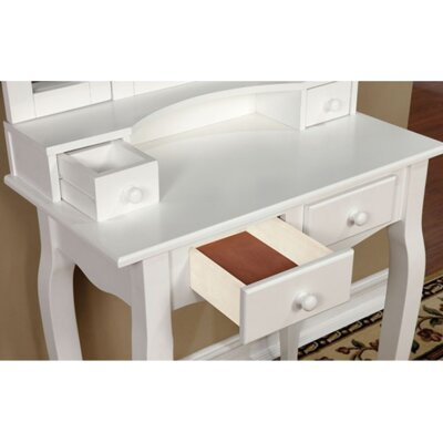 A&J Homes Studio Bella Vanity Set with Mirror