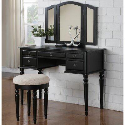 A&J Homes Studio Susan Vanity Set with Mi..