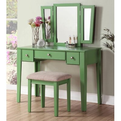 A&J Homes Studio Candy Vanity Set with Mi..