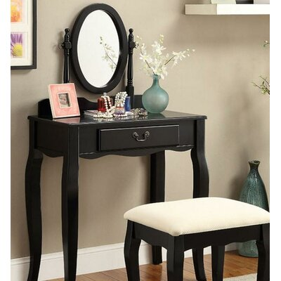 A&J Homes Studio Victoria Vanity Set with Mirror