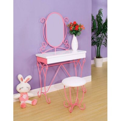 A&J Homes Studio Jane Vanity Set with Mir..