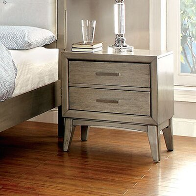 A&J Homes Studio Needham 2 Drawer Nightstand