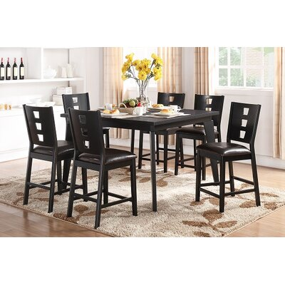 A&J Homes Studio Dolly 7 Piece Counter Height Dining Set
