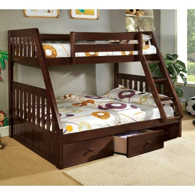 A&J Homes Studio Twin over Full Bunk Bed with U..