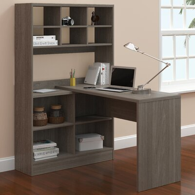 A&J Homes Studio Camino Writing Desk with Hutch Image