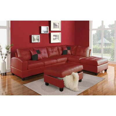 A&J Homes Studio James Reversible Chaise Sectional