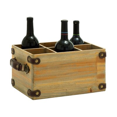 ABC Home Collection 6 Bottle Tabletop Wine Rack