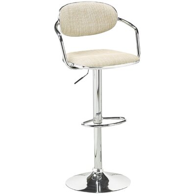 Brassex Soho Adjustable Height Swivel Bar Stool (Set of 2)