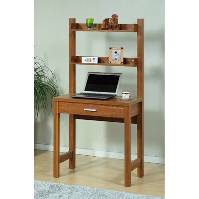 Brassex Computer Desk with 2-Tier Storage Drawer