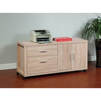 Brassex 2-Drawer Mobile File Cabinet