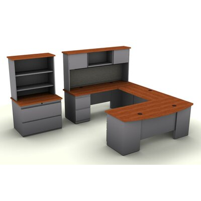 SNAP!office 5-Piece U-Shaped Desk Office Suite