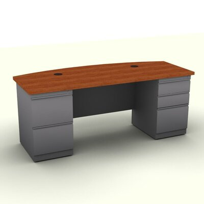 SNAP!office Executive Desk with Bow Fr..
