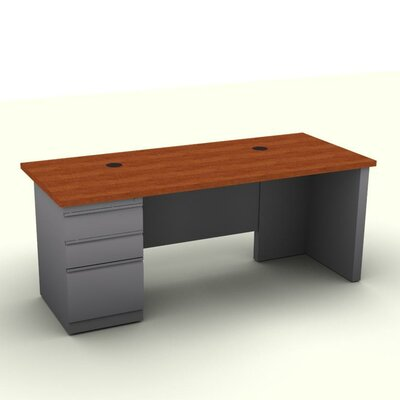 SNAP!office Executive Desk with Single File Pedestal