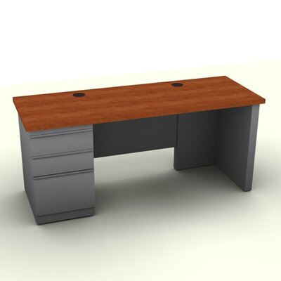 SNAP!office Executive Desk with Left File Pedestal