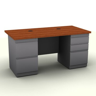 SNAP!office Executive Desk with Two Pedestals