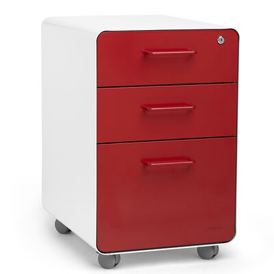 Poppin 3-Drawer Mobile Fully Loaded Fi..