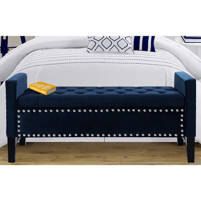Iconic Home Lance Upholstered Storage Bed..