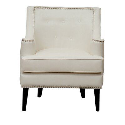 Iconic Home Grace Button Tufted Armchair
