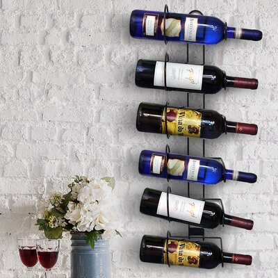 Sorbus 6 Bottle Wall Mounted Wine Rack