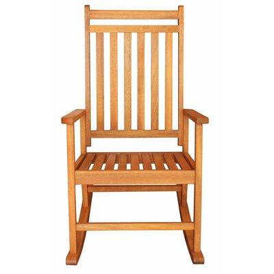 ... LuuNguyen Franklin Outdoor Hardwood Rocking Chair & Reviews  Wayfair