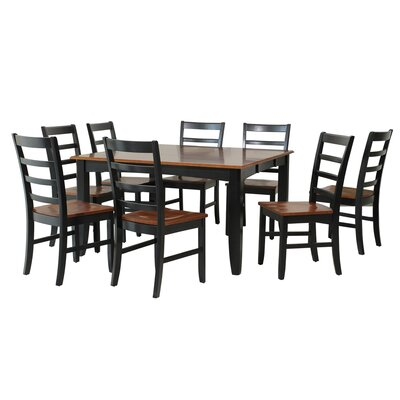 TTP Furnish Wabasca 9 Piece Dining Set