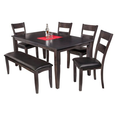 TTP Furnish Aden 6 Piece Dining Set