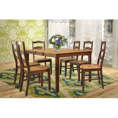 TTP Furnish Stettler 7 Piece Dining Set