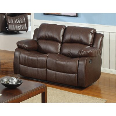 Best Quality Furniture Bonded Leather Recliner Loveseat