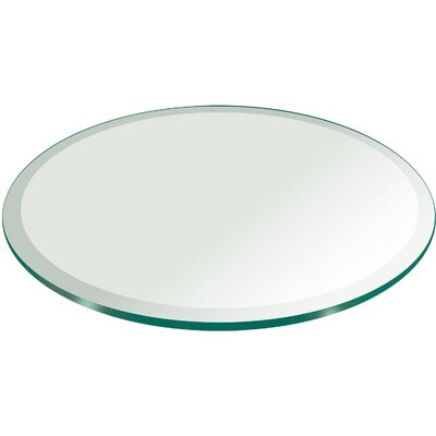 Fab Glass and Mirror Round Beveled Edge Tempered Glass ...