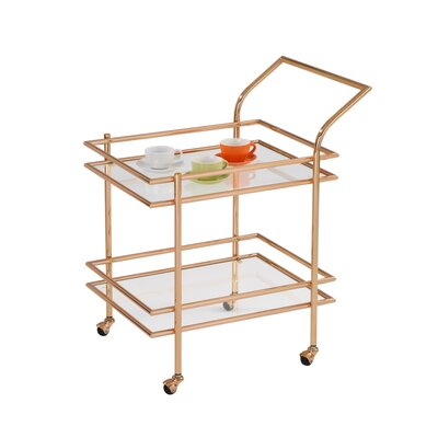 Design Guild Gold Rolling Serving Cart