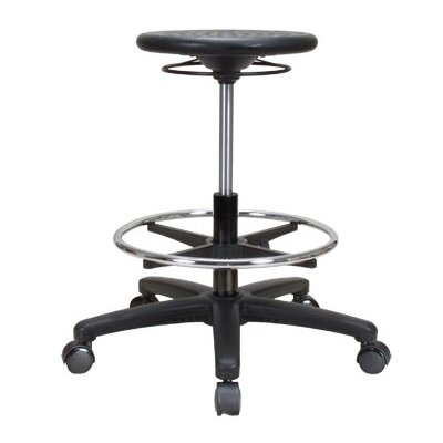 Perch Chairs & Stools Height Adjustable Industrial Stool with Foot Ring