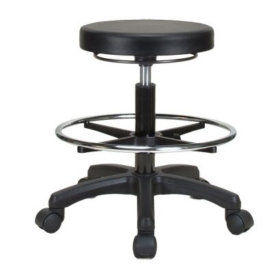 Perch Chairs & Stools Height Adjustable Work Stool with Foot Ring