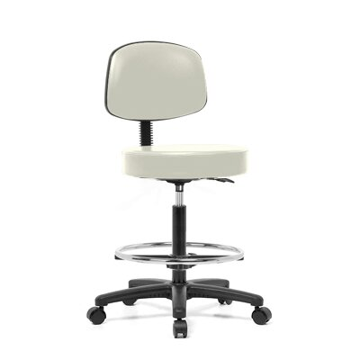 Perch Chairs & Stools Height Adjustable Exam Stool with Basic Backrest and Foot Ring