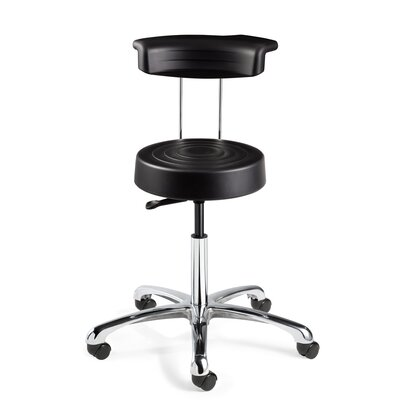 BEVCO ErgoLux Height Adjustable Stool with Backrest
